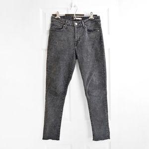 Levis 721 High Rise Grey Skinny Jeans Sz 28